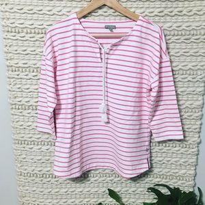 T by Talbots Striped Blouse